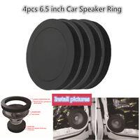 """4Pcs 6.5"""" Car Speaker Ring Bass Door Trim Audio Speakers Sound Insulation Ring"""