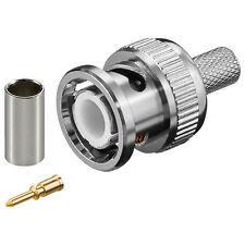 BNC-Crimp-Stecker (50 Stück) für RG 59, 75 Ohm