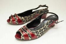 VANELi Size 6 Red Leopard Slingback Open Toe