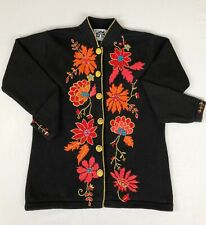 STORYBOOK KNITS Sweater Embroidered Floral Women's HSN Small