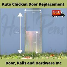 Automatic Chicken Coop Door Auto Chicken Cage Opener DOOR AND RAILS ONLY