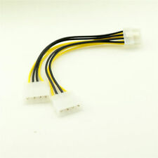 ATX 8 Pin EPS12V to Dual 4 Pin Molex Male Motherboard Power Supply Adapter Cable