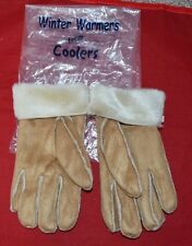Coolers Winter Warmer Microsuede Gloves With Faux Fur Lining Unisex
