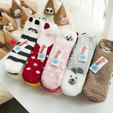 Lot Adults Kids Gift Santa Coral Fleece Slipper Socks Warm Winter Xmas Christmas