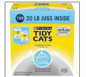 Purina Tidy Cats Clumping Scented Litter with Glade Twin Pack 20 lbs x 2 Counts