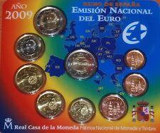 manueduc   ESPAÑA  2009  FNMT 9 Coins con 2 EUROS 10º Aniversario  UEM