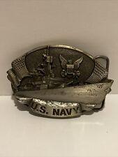 Us Navy Belt Buckle Bergamot Brass Works 1981 Vintage Made In Usa