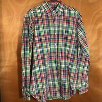 Polo Ralph Lauren Classic Fit Men's Sz Large plaid Long Sleeve Button Down shirt