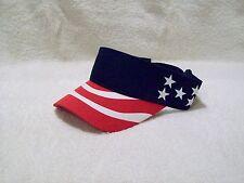 NEW NAVY BLUE US FLAG PATRIOTIC COTTON SUN FISHING GOLF VISOR HAT SUN CAP
