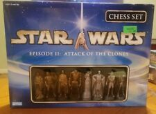 NIB ~ HTF ~ Star Wars Chess Set Episode II: Attack Of The Clones 2003