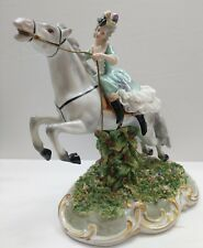 SAN MARCO CAPODIMONTE 18TH CENTURY Woman on Horse Crown N Italy