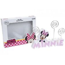 DISNEY MINNIE MOUSE  PINK WOODEN CLIP PHOTO MEMO NOTE HOLDER