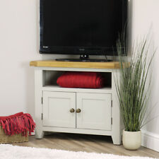 """Arklow Grey Oak Corner TV Unit For Screens Up To 38"""" 