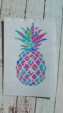 Pineapple car decal Yeti RTIC decal 3.5 height Beach life Summer Lilly inspired.