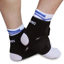 New Black Adjustable Ankle Foot Support Elastic Brace Guard Football Basketball