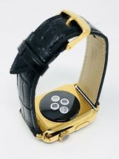 24K Gold Plated Apple Watch SERIES 2 with NEW Black Alligator Band