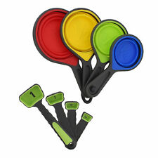 7Penn Collapsible Measuring Cups and Spoons Set Dry Measure Cups - Green Spoons