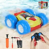 2.4 GHz Amphibious RC Stunt Cars for Boys Girls Rechargeable 4WD Off Road Trucks