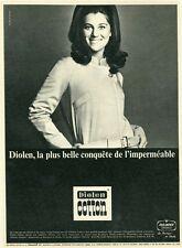 """""""DIOLEN COTTON"""" Annonce originale entoilée La BOUTIQUE de SHEILA fin 50 27x36cm"""