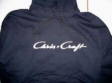 Chris Craft Screen Printed Navy Hooded Sweatshirt 9.3 oz. Heavy 50/50s