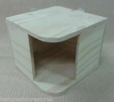 CORNER PINE PLYWOOD PLAY HOUSE 4 CAGE CHINCHILLA,GUINEA PIG,DEGU,DWARF RABBIT
