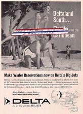DELTA AIRLINES 1962 DELTALAND  FLORIDA & CARIBBEAN MAKE WINTER RESERVATIONS