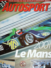 Le MANS 24 2001 AUTOSPORT Guide BENTLEY SPEED 8 AUDI R8 MG EX CADILLAC NORTHSTAR