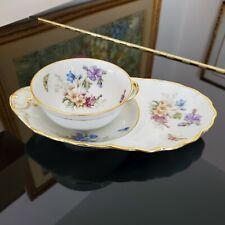 New ListingAntique Limoges France Rare Orlik Fith Ave. Floral Cup & Luncheon Saucer