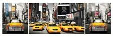 New York Taxis Panorama Photo Art Print Poster 62x21