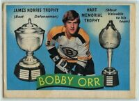 1971-72 OPC Hockey #245 Bobby Orr Double Good Condition (2020-11-02)
