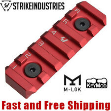 Strike Industries LINK 6-Slot Picatinny Rail Section fit KeyMod & M-LOK - Red