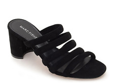 Marc Fisher Shire Suede Strappy Mule in Black size UK 7.5
