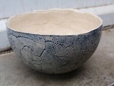 ANNA KEILLER ORIGINAL STUDIO ART POTTERY HAND MADE PAINTED BOWL  (A)