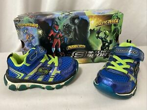 Skechers X-CELLORATOR Athletics Toddler Boys Blue/Lime Size 6 Eur 5 Eur 21.5