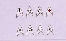 Mego Star Trek Custom Original Series Tv Accurate White Insigna Decals.