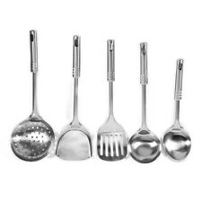 5X Stainless Steel Utensil Set Cooking Soup Spoon Spatula Shovel Kitchen Tool SS