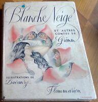 BLANCHENEIGE ET AUTRES CONTES Grimm illustrations de Davanzo. Livres enfants