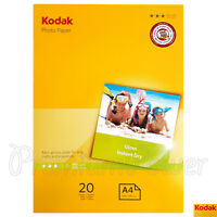 20 sheets x KODAK A4 Photo Paper Glossy 210 x 297mm 180gsm for inkjet printers