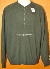 NEW Men's Under Armour Cashmere Silk Green Sweater #1265252  Size 3XL