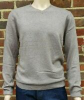 Men`s Denver Hayes V-Neck Merino Wool Blend Jumper Size Medium Light Brown