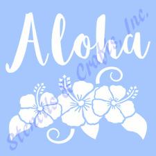 ALOHA STENCIL HIBISCUS FLOWERS FLOWER STENCILS TEMPLATE LEAF ART PAINT CRAFT NEW