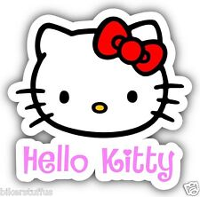 HELLO KITTY KIDS BUMPER STICKER TOOL BOX STICKER LAPTOP STICKER WINDOW STICKER