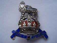 C1920S ROYAL ARMY PAY CORPS SILVER,ENAMEL&MARCASITE SWEETHEARTS PIN BROOCH