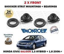 FOR HONDA CIVIC 1.3 1.8 SALOON 2006-> 2X FRONT SHOCKER TOP STRUT MOUNT + BEARING