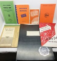 Large Lot Vintage Truck Driver CDL Commercial Vehicles Manuals, Code books, More