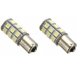 #1156 Red 18SMD LED Park Parking Tail Light Turn Signal Reverse Lamp Bulbs Pair