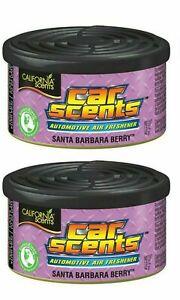 CALIFORNIA SCENTS SANTA BARBARA BERRY X2 CANS CAR HOME OFFICE AIR FRESHENER