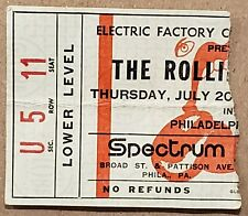 ROLLING STONES 1972 TICKET STUB The Spectrum, Philadelphia, PA EXILE TOUR