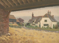 20th Century Oil - View of a Farmhouse