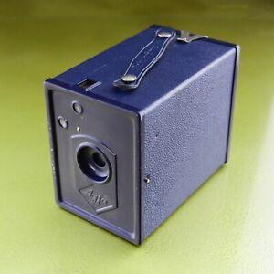 BLUE AGFA SCHOOLBOX 6 x 9cm, BOX CAMERA SCHULPRAMIE Art Deco 1930s 44 PREIS ☆☆☆